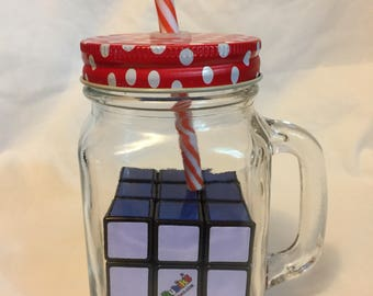 3x3 Rubik's cube in a jar with lid