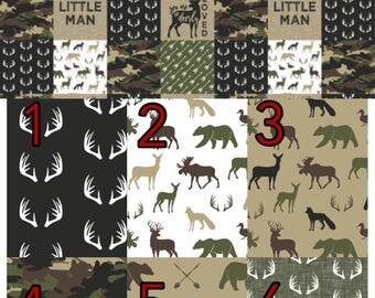 Camouflage crib bedding, Lumberjack, camo,  woodland nursery, red buffalo plaid, red and black , modern nursery, quilt, bumpers, deer, skirt