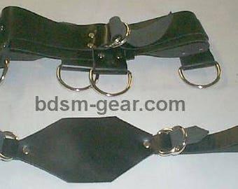 Black Leather Chastity Belt