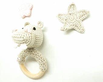 Hochet bébé / hochet crochet / hochet fait main / jouet bébé / cadeau de naissance