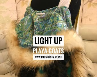 Light Up Playa Coats designed for Burning Man by experienced Burner