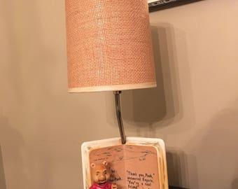 Vintage Winnie the Pooh nursery lamp