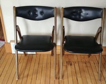Wonderfold Chairs Mid Century Modern set Style #220 of two. MCM