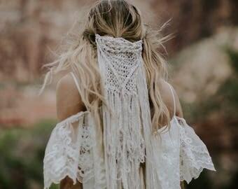 Macrame Wedding Veil