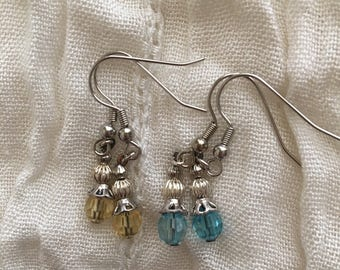 Yellow&Blue Earring Set