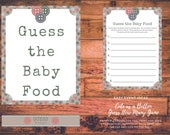 Cute as a Button Baby Shower Guess the Baby Food Game Printable Instant Download Printable