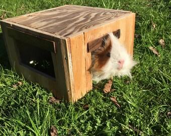 Guinea Pig | Guinea Pig Accessories | Guinea Pig House | Handmade | for | Plus Size Pigs | Walnut | and | Douglas Fir | Reclaimed Wood