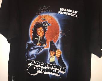 Vintage Clockwork Orange Movie Promo Shirt Size X-Large