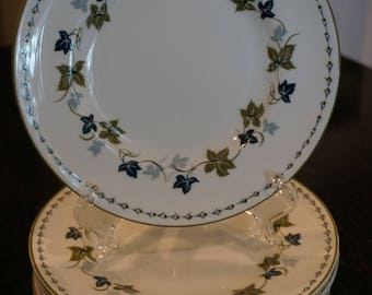 "Set of 11 Susie Cooper ""Vintage"" Bread/Butter Plates/Wedgwood/England/ Holiday China/ Mid Century Modern China"
