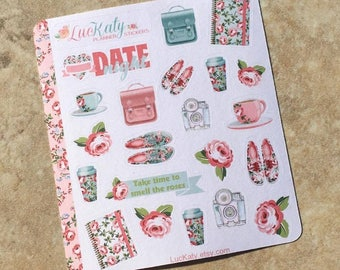 Rose Parade Decorative Planner Stickers: Suitable for use with  inkWELL Press Planner  or Erin Condren Lifeplanner   Luckaty