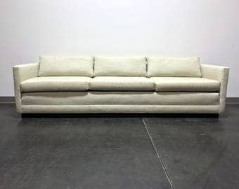 Mid Century Modern MCM Cube Sofa in the style of Jack Cartwright