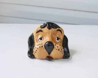 Vintage Puppy Dog Eye Glass Holder-Display-Glasses Holder-Droopy Ears-Freckle Face-Tongue Out
