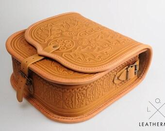 Genuine leather purse, Capacios bag ,Crossbody bag, Shoulder bag, Foxy bag, Leather messenger bag, Tooled leather, Women's purse