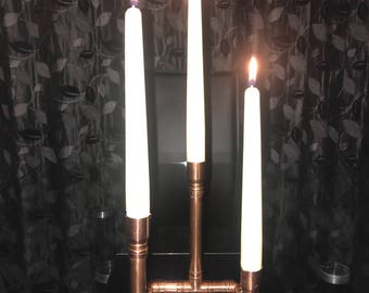 15mm new copper pipe candle stick holder for 22mm diameter candles