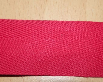 30 mm red cotton twill