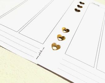 FOILED Holey heart - Hole reinforcers - Planner Stickers - Erin Condren - Plum Paper - Kikki K - Paperchase - Filofax