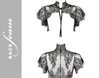 Black lace bolero jacket by Backseam