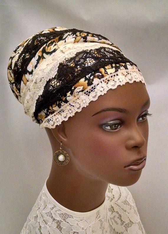 Warm floral lace tichel, sinar tichels, head scarves, chemo scarves, head wraps, mitpachat