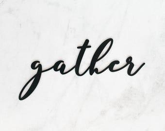 Gather | Laser Cut Wooden Word