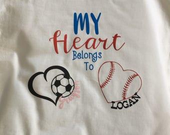 Grandparent Tshirt* Personalized Tshirt * Sports Tshirt * Grandma Tshirt * Nana Tshirt * Grammy Tshirt * Gammy Tshirt