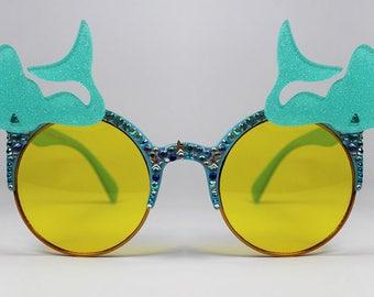 Spangled Mermaid Embellished Sunglasses