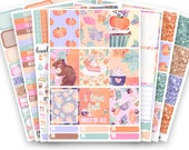 Fall Treats No White-Space Weekly Kit - Planner Stickers