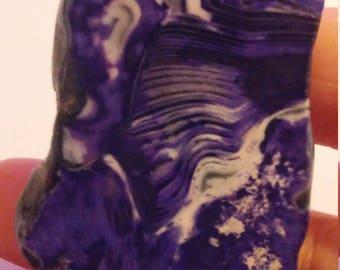 Purple agate slice pendant bead (699)