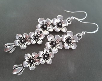 Flowering Branches . Earrings