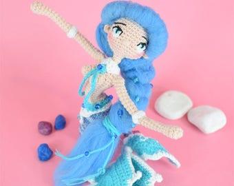 Mermaid, mermaid doll, little mermaid, amigurumi doll, crocheted doll, crochet mermaid, cute doll, stuffed doll, ooak doll, amigurumi, doll