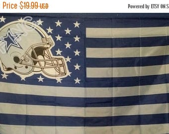 PRE-SEASON SALE 30% Off Dallas Cowboys, Cowboys Nation Flag or Banner 3' x 5'