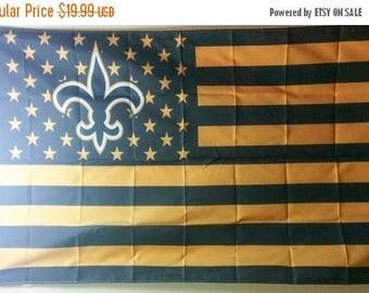 PRE-SEASON SALE 30% Off New Orleans Saints, Saints Nation Flag or Banner 3' x 5'