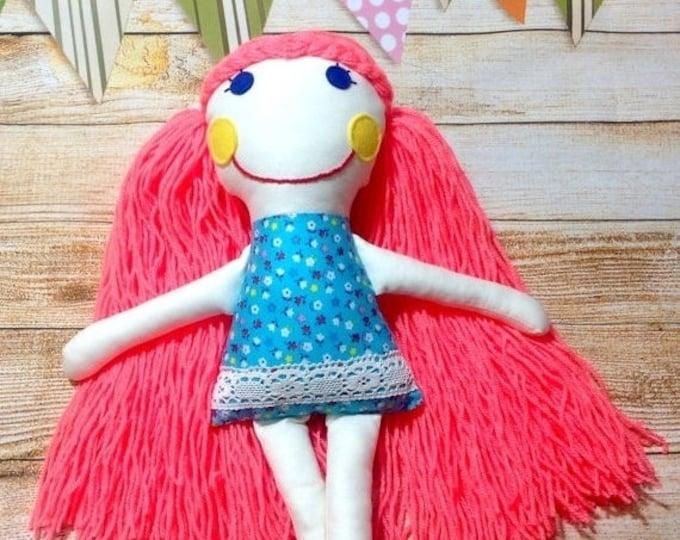 Xmas Sale Soft Doll, Fabric Doll, Cloth Doll, First Doll, Handmade Doll, Birthday Gift, Rag Doll, Girls Gift