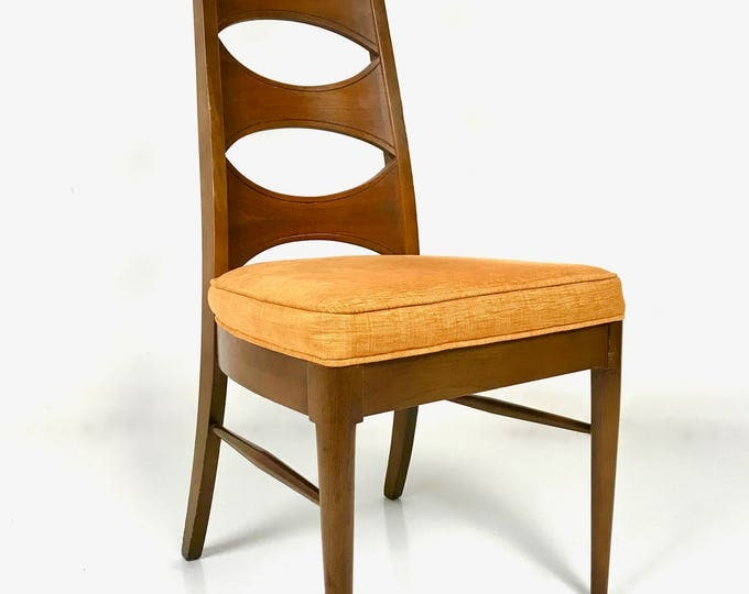 SOLD 10 Mid Century Modern Perspecta by Kent Coffey Tall Cats Eye Ladder Back Dining Chairs