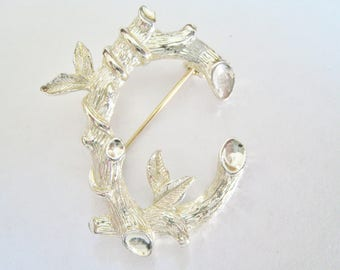 Sarah Coventry Letter C  Pin