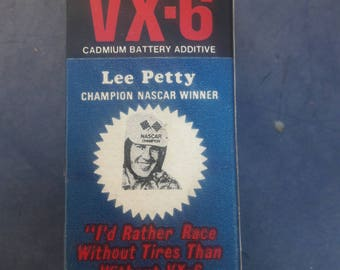 Vintage 1960's Lee Petty BATTERY ADDITIVE VX-6