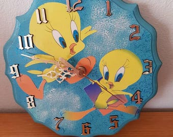 Tweety Bird Quartz Clock by Takane Made in USA/Childrens Wall Clock