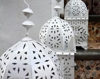 Moroccan lantern XL White