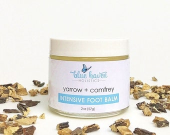 FOOT BALM, Comfrey & Yarrow Foot Balm, 2oz