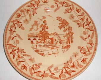 "Wallace China Restaurant-ware Ye Olde Mill, 10""plate"