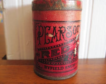 Pearson's Red Top Snuff Tin - Item #1622