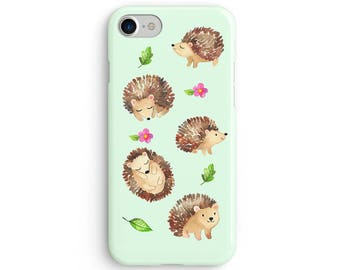 Hedgehogs everywhere watercolor  iPhone X case - iPhone 8 case - Samsung Galaxy S8 case - iPhone 7 case - Tough case 1P030
