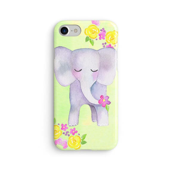 Watercolor elephant  iPhone X case - iPhone 8 case - Samsung Galaxy S8 case - iPhone 7 case - Tough case 1P065