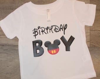 Mickey Mouse Birthday Boy Shirt- Kids Graphic Tee- Disney Family shirt- first birthday