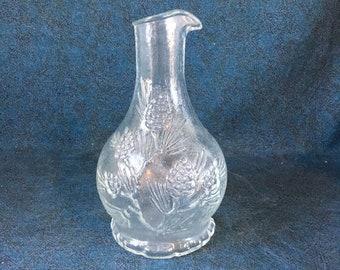 Vintage Tiara Ponderosa Pine Carafe, Indiana Glass Company