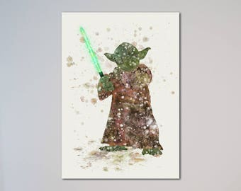 Yoda  Star Wars Poster Watercolor Print Star Wars Fans gift