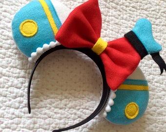 Handmade Disney Inspired Magical Donald Duck Mouse Ears Mickey Minnie Hairband