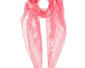 Alexander McQueen LARGE silk skull-print scarf