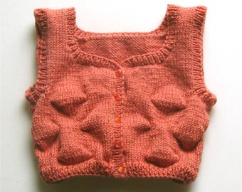 Salmon 0/3 month pink baby vest