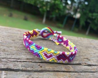 Colorful and Psychedelic Heart Friendship Bracelet