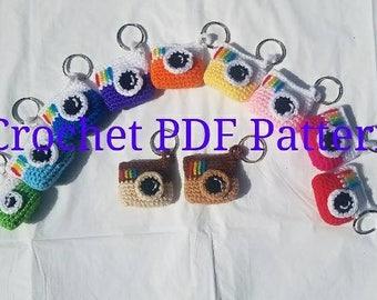 Crochet Camera Key Chain Pattern
